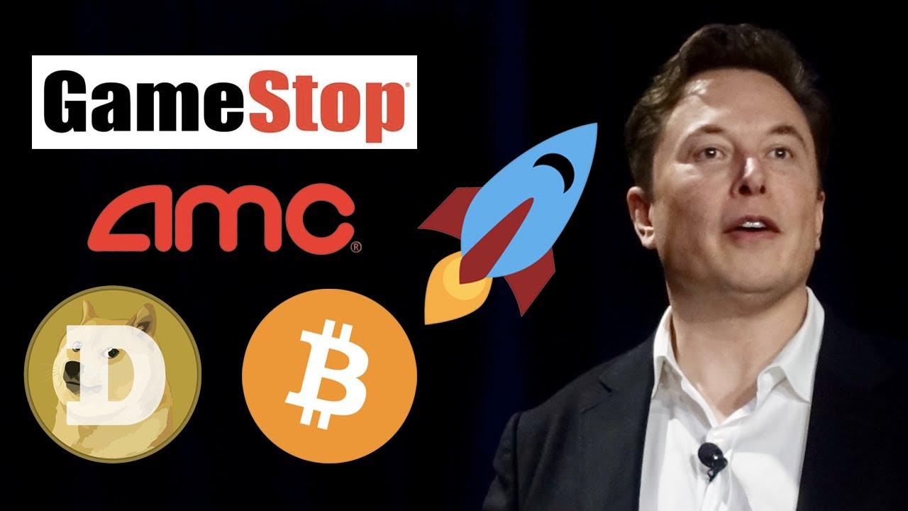 GameStop short squeeze, NOK AMC Stock, Dogecoin and Elon Musk