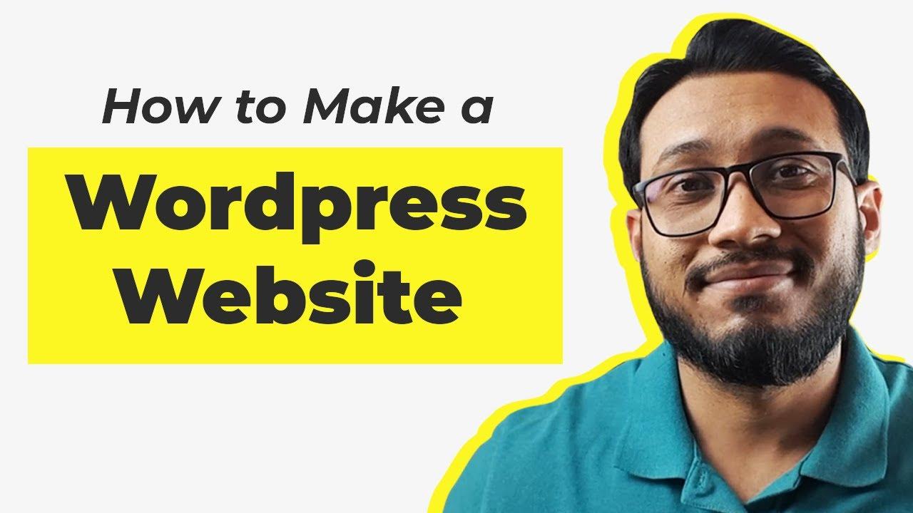 How to make a website using Wordpress