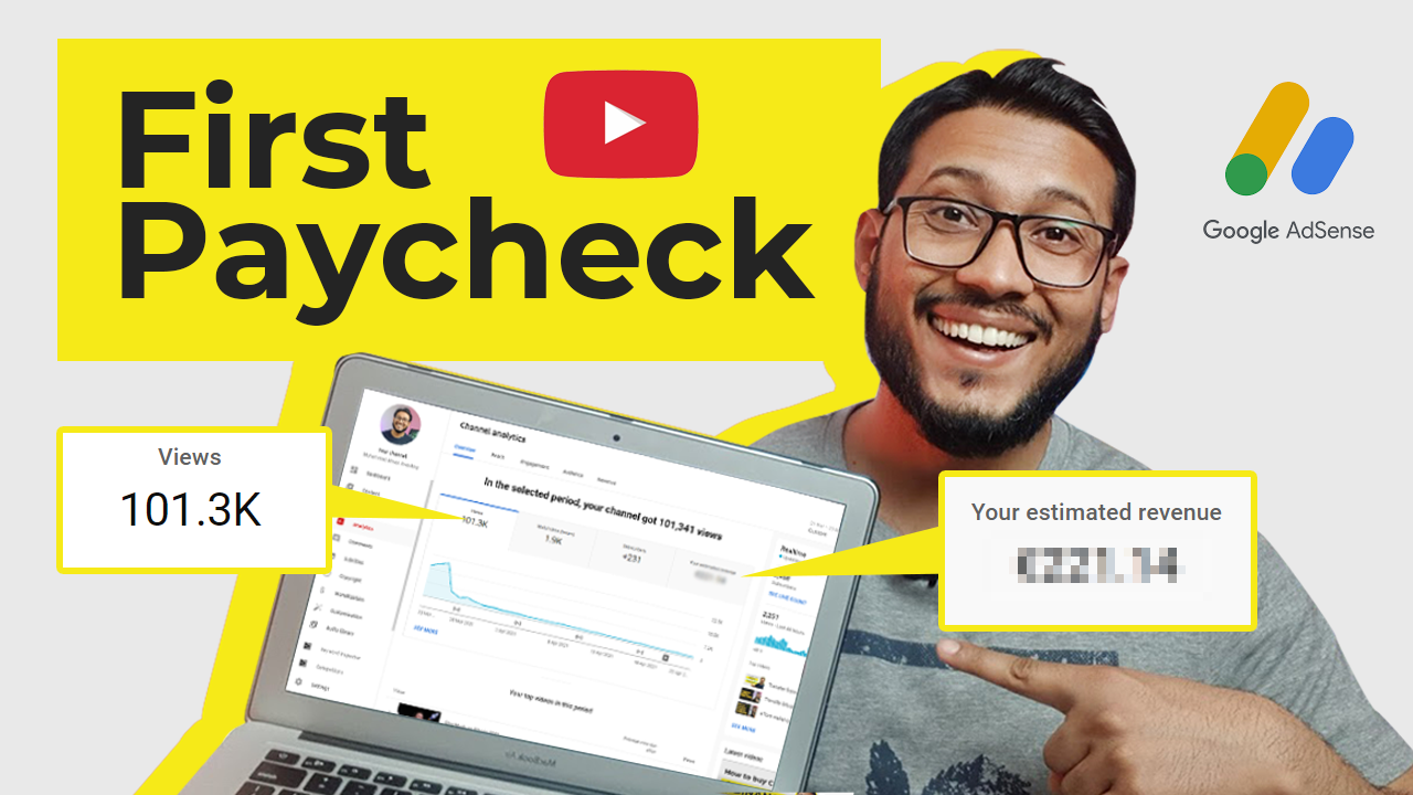 My First YouTube Paycheck – How much I make with 3,000 subscribers